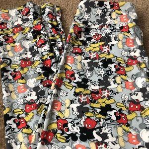 Lularoe Mickey Mouse Leggings - one size